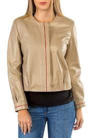 <b>Кожаная куртка MIO CALVINO</b> арт MIOAK10043W_TAN BEIGE ...