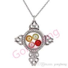 K1524 <b>Silver</b> Color Cross Of Christ Round Rhinestone Magnetic ...