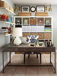 delectable design ideas of cute home office with rectangle shape brown wooden table and white table blue brown home office