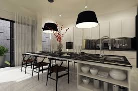 l luxury kitchen design ideas with large white finish wooden bar kitchen table using marble tops be equipped wooden bar stools on glazed ceramic floors black white modern kitchen tables