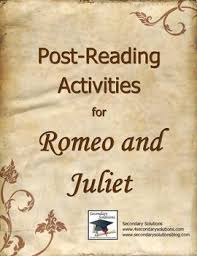 Essay writing  Activities and Romeo and juliet on Pinterest Post Reading activities for concluding assessing Romeo and Juliet after reading