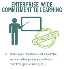 Twenty Third Annual Report to the Prime Minister on the Public     Destintation       Enterprise wide commitment to learning   All learning at the Canada School
