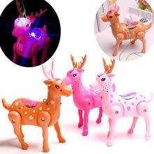 Электрический музыкальный светодиодный игрушечный олень с ...