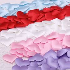 <b>100pcs Romantic</b> Soft fabric flower <b>heart</b> shape <b>sponge</b> weddin ...