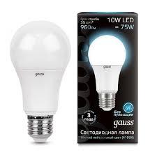 <b>102502210 Лампа gauss</b> E27 10Вт 4100K купить в Екатеринбурге ...