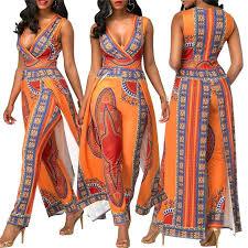 <b>African Dresses</b> for Women's <b>Autumn</b> Orange Ethnic Pants   African ...