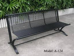 metal patio bench