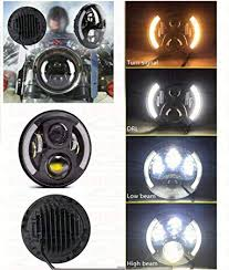 Autosun <b>7Inch</b> Round Hi/Lo Cree Led Headlights With <b>Drl</b> & Halo ...