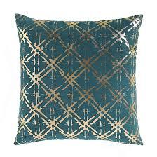 <b>Чехол для подушки с</b> рисунком zanja сине-зеленый/латунь La ...