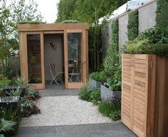 small garden with office designed by mark gregory build garden office kit