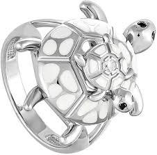 Серебряное <b>кольцо</b> ''Черепашки'' <b>Kabarovsky 1-001-8110</b> с ...