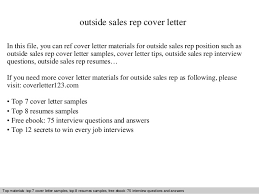 outside sales rep cover letter in this file you can ref cover letter materials for sales rep cover letter