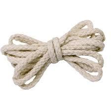 90m <b>5mm</b> Beige Cotton Rope Braided Cord String <b>Twisted</b> Cord ...