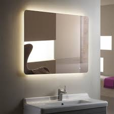 lighted vanity mirror mirrors bathroom horizontal led bathroom silvered mirror with touch button