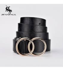 <b>JIFANPAUL</b> Genuine leather <b>Women's</b> alloy double ring buckle ...
