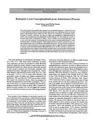 (PDF) <b>Romantic Love</b> Conceptualized as an Attachment Process