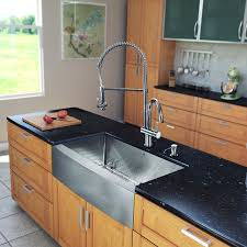 all in one 33 inch farmhouse stainless steel kitchen sink and chrome faucet set apron kitchen sink