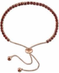 Sweet Deal on Womens <b>Red Garnet</b> Sterling Silver Bolo <b>Bracelet</b>