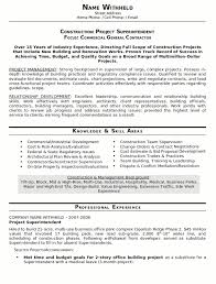 resume sample    construction superintendent resume    career    resume sample construction superindendent page