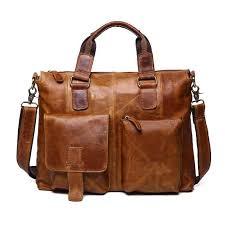 <b>JOYIR</b> Genuine <b>Leather</b> Business <b>Briefcase Men Messenger</b> ...