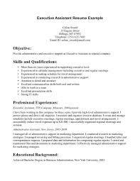 executive assistant resume objective examples for cover letter executive assistant resume objective examples sample resume of executive assistant
