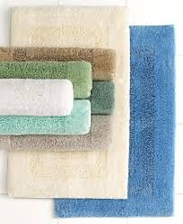 dark navy blue bath rugs: martha stewart collection plush squares bath rugs  cotton only at