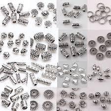 Wholesale 50/<b>100pcs Lot Metal</b> Tibetan Silver Charm Spacer Beads ...