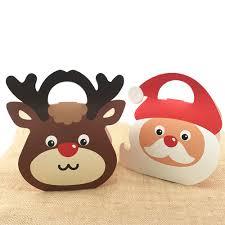 <b>20pcs</b>/<b>lot</b> Elk Santa Claus Candy <b>Box</b> Cute Christmas <b>Gift Handbag</b> ...