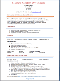 teaching assistant cv template   tips and download – cv plazateaching assistant cv example