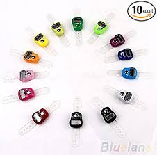<b>Digital Finger</b> Ring Tally Counter Hand Held Knitting Row counter ...