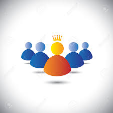 leader crown leadership team teamwork concept vector leader crown leadership team teamwork concept vector icon stock vector