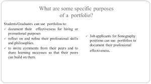 how to build a professional portfolio harry h holdorf ppt what are some specific purposes of a portfolio