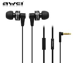 <b>Awei ES900i Black</b> Earphones with Mic | Rockit Headphones