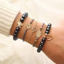 5pcs Women's Chain Bracelet Bead Bracelet Pendant Bracelet ...