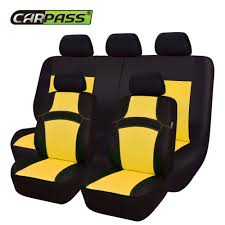 <b>Car pass</b> RAINBOW <b>Full Set</b> Universal Car Seat Covers Car Styling ...