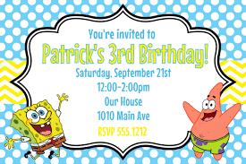 spongebob invitation card invitations ideas spongebob invitations hollowwoodmusic com spongebob birthday invitations sndclsh