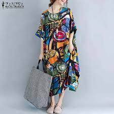2019 ZANZEA Summer Bohemian Floral Beach Vestido <b>Women</b> V ...