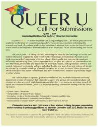 queer u at ubc an interdisciplinary student academic event on queer u 2014 call for submissions