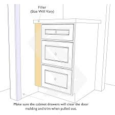kitchen moldings: filler yellow to account for all door molding and trim gray