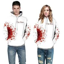 <b>Halloween Blood</b> Hoodies Sweatshirts Women <b>Men</b> I'M FINE Letter ...
