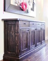 build your own rustic sideboardbuffet table free plans at ana white build your own rustic furniture