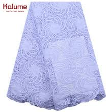 Kalume Latest African Water Soluble Cord Lace Pure White ...