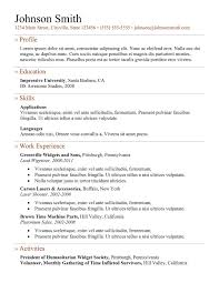 simple resume templates best professional resume resume example for freshers template 5 doc