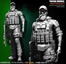 <b>Yufan Model 1/35</b> Resin Soldier <b>Figure Model</b> Kit YFWW35 1825-in ...