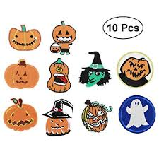 SUPVOX 10Pcs Fabric Patches <b>Halloween Elements</b> Patches ...