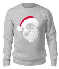 Свитшот унисекс хлопковый Дед Мороз с трубкой #2613218 от ...