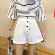 Shorts Female <b>Summer Thin Elastic</b> Loose Casual Pants | Shopee ...