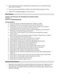 system administrator resume format kronos systems administrator resume