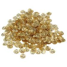 500pcs 6mm Gold Tone Flower <b>Bead</b> Caps for Jewelry Making S1K5