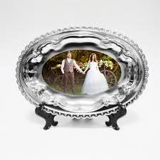 <b>Тарелка металлическая</b> с фото (<b>овальная</b>), купить в Брянске